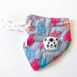 Polip gyerek FFP2 KN95 szelepes, 5 rétegű szájmaszk, állítható gumipánttal