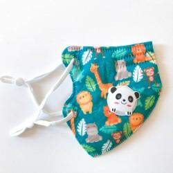 Dzsungel gyerek FFP2 KN95 szelepes, 5 rétegű szájmaszk, állítható gumipánttal