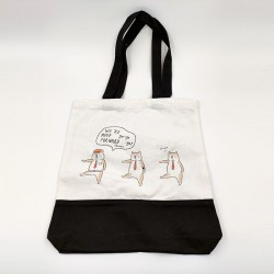 Shiba Inu Black Canvas Bag