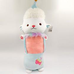 Kawaii Bárányka kantáros ruhában ölelés párna