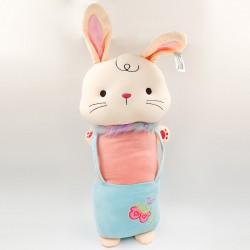 Kawaii Nyuszi kantáros ruhában ölelés párna