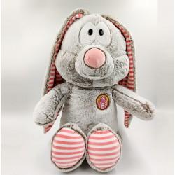 Cute striped eared gray Bunny plush toy