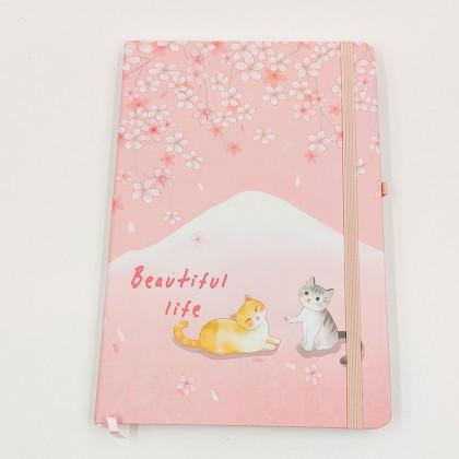 Beautiful Life cicás jegyzetfüzet - kicsi virágok