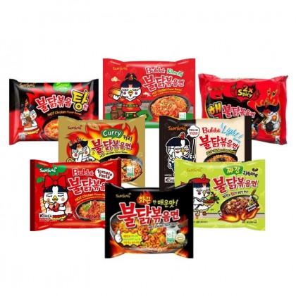 All in One Samyang instant tészta csomag - 8 féle íz