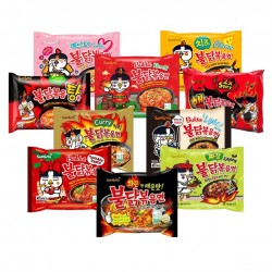 All in One Samyang Spicy Chicken Roasted Noodles pack - 10 flavors