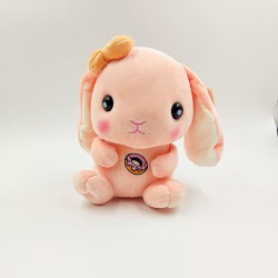 Kawaii peach bunny plush