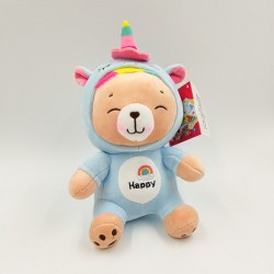 Super soft and cute bear in unicorn clothes