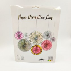 Paper decoration in mixed color