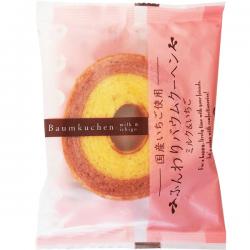 Taiyo Baumkuchen Milk + Strawberry 65g