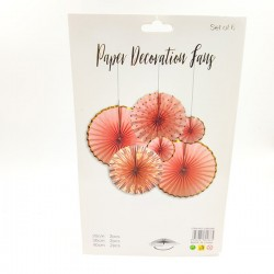 Paper decoration in peach color