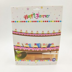 Happy Forever Party Hanging Paper Fans Decoration Set