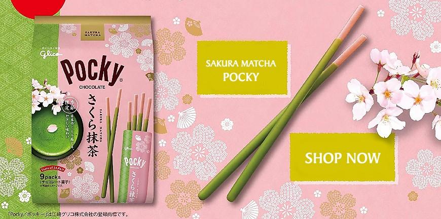 Glico Pocky Sakura Matcha
